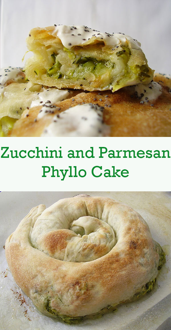Zucchini and Parmesan Phyllo Cake: Mediterranean festival of flavours !