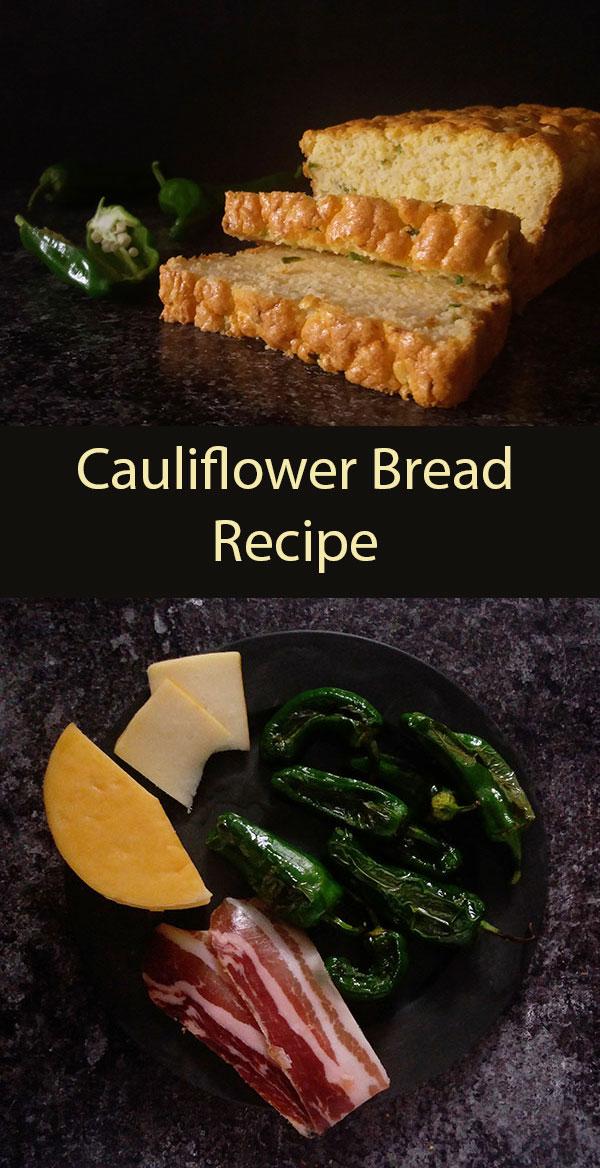 Cauliflower Bread Recipe: light, guilt free, tender, tasty and so easy to make.