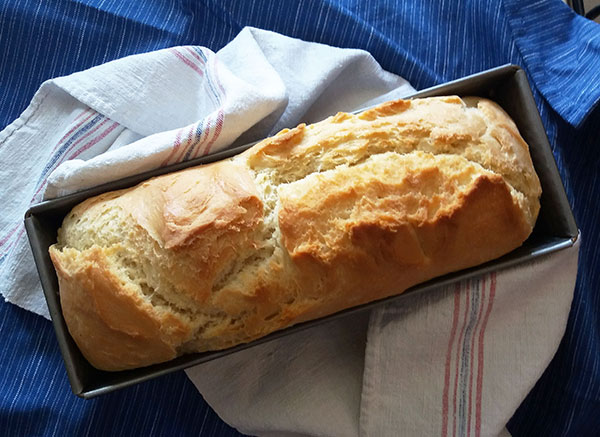 Rustic Lard Bread : vintage bread version using lard; tasty, simple and easy to make.