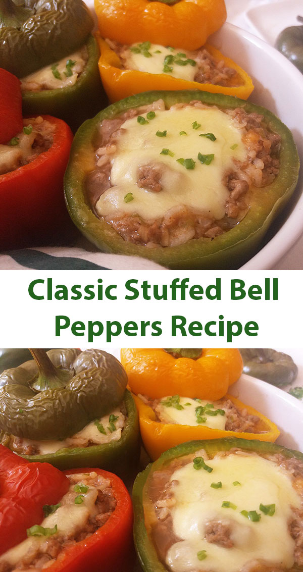 Classic Stuffed Bell Peppers Recipe : summertime comforting dish !