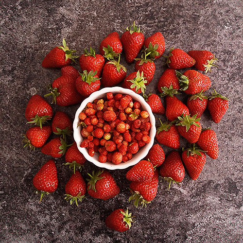 Wild Strawberry Jam without Pectin : Hungarian easy, vintage and healthy jam, perfect for meringue cake spread and breakfast waffels or pancakes.