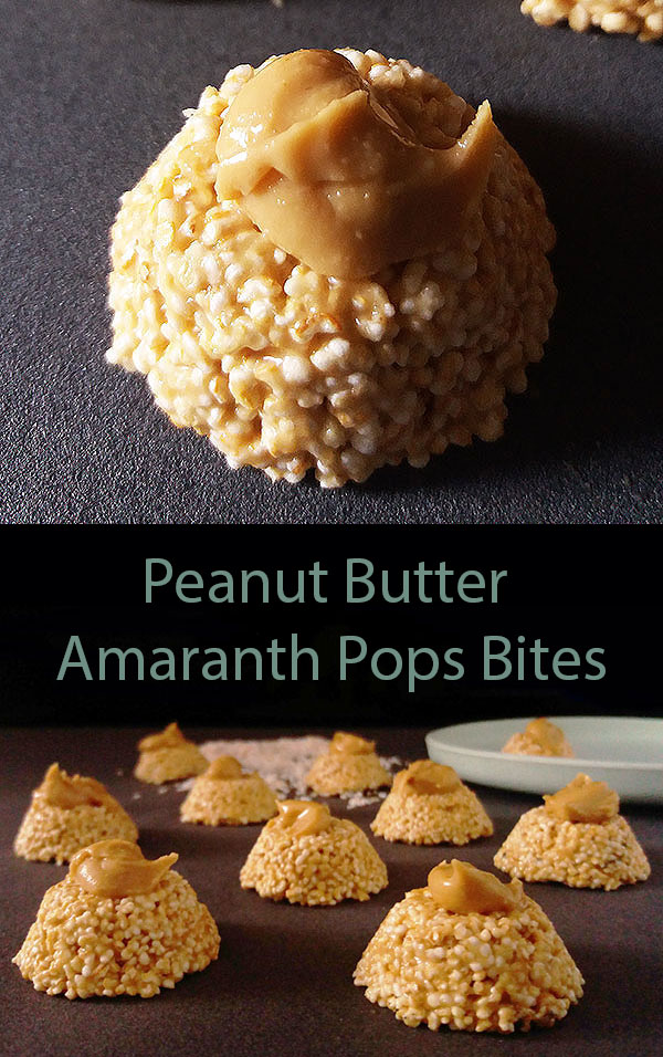 Peanut Butter Amaranth Pops Bites: need a fix ? Use this mix !