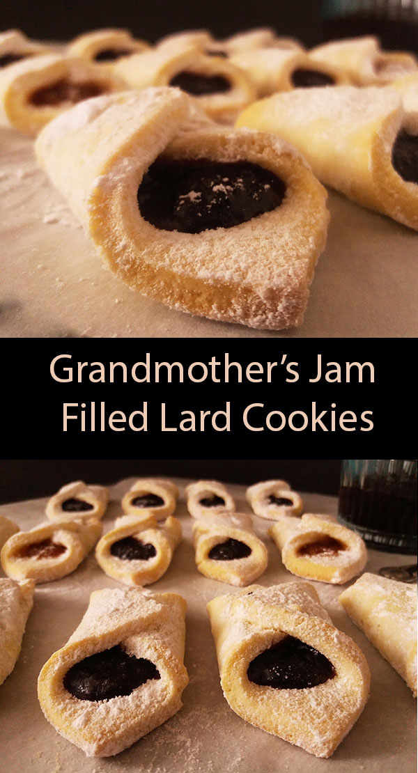 Grandmother's Jam Filled Lard Cookies: perfect vintage afternoon snack our grandmother used to make.