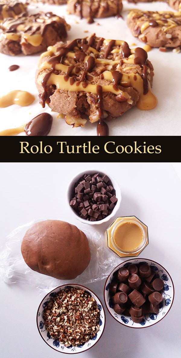 Rolo Turtle Cookies : simphony of chocolate, Rolos, dulce de leche and pecans :-)