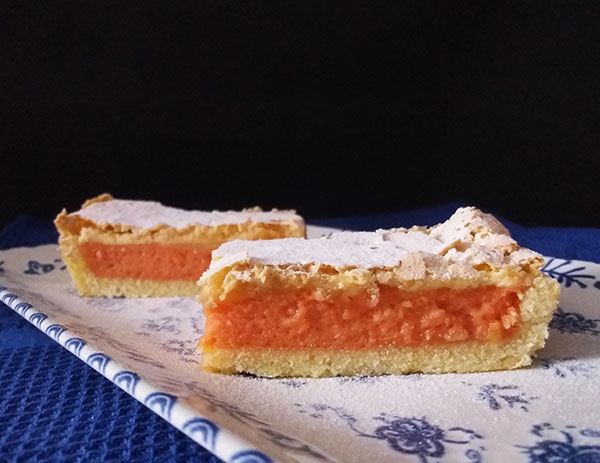 Blood Orange Curd Tart with Lady Fingers Topping: delicious blood orange curd with few drops of orange essence and lady fingers crusty topping, all in one, make your citruses' season's new favourite tart !