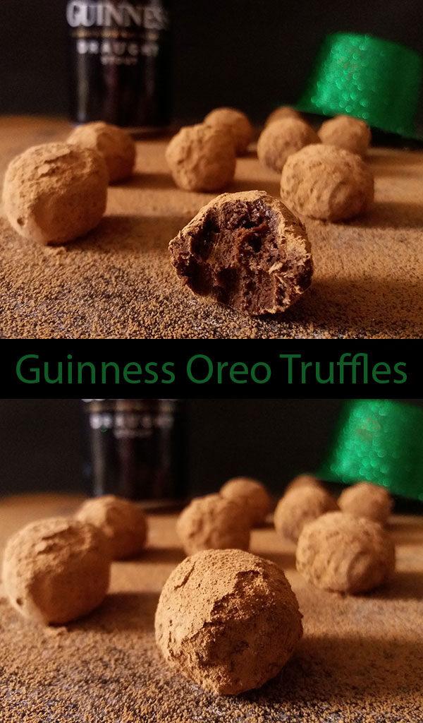 Guinness Oreo Truffles : no bake, reduced dark Irish dry stout with semi sweet chocolate truffles are your favourite St. Patrick's treat this year !