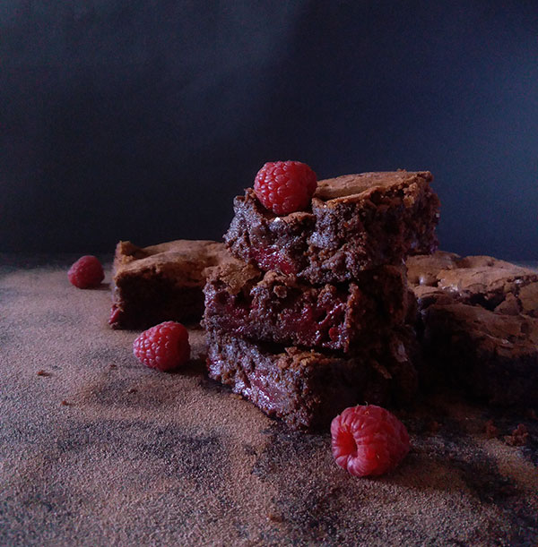 Raspberry Fudge Brownies : rich and decadent combination of chocolate and raspberries.