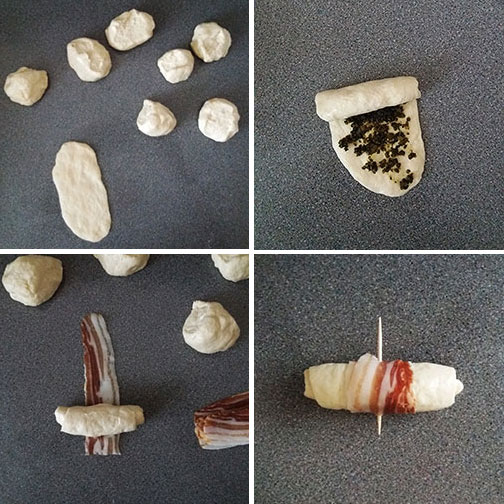 Pesto Pancetta Rolls : Super easy to make with your favourite pesto, store bought or homemade. Pancetta gives the very special smoky flavour !