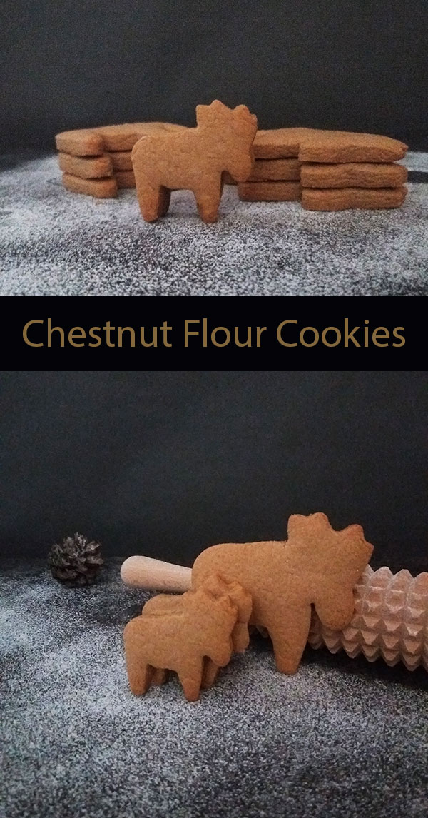 """Chestnut Flour Cookies : The timing is perfect to make a batch of these Chestnut Flour Cookies. Reason to this is simple and easy recipe; nutty and woody flavor will make you fall in love with them and add to your """"cookies to bake"""" list for the upcoming holidays."""