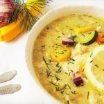 Greek Chicken Soup with Semolina and Vegetables