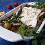 Baked Feta Cheese with Canned Sardines and Olives
