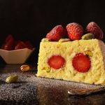 Strawberry Polenta No Bake Cake