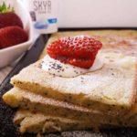 Sheet Pan Icelandic Skyr Yogurt and Poppy Seed Pancakes